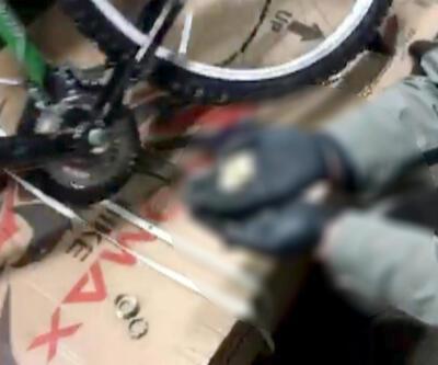 Bisiklet gövdesine gizlenmiş uyuşturucu bulundu