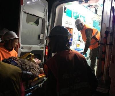 Yüksekten düşen kişiyi, Mehmetçik helikopterle hastaneye ulaştırdı