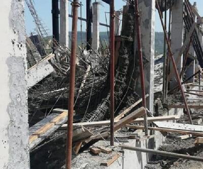 Çöken kalıpların altında kalan inşaat işçisi yaralandı
