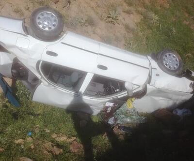 Malatya'da otomobil şarampole devrildi: 1 ölü, 1 yaralı