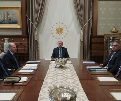 CumhurbaşkanıErdoğan, Soylu ve Ersoy'la görüştü