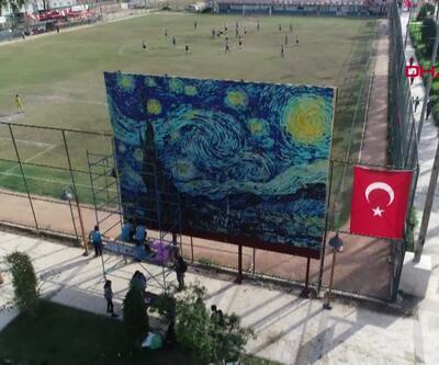 3 milyon toplu iğne ve pul ile Van Gogh tablosu