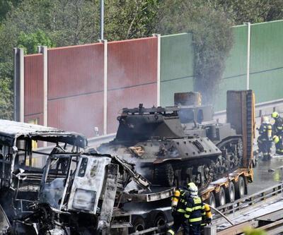 Mahkûmları taşıyan otobüsle, tank taşıyan TIR çarpıştı: 1 ölü, 14 yaralı