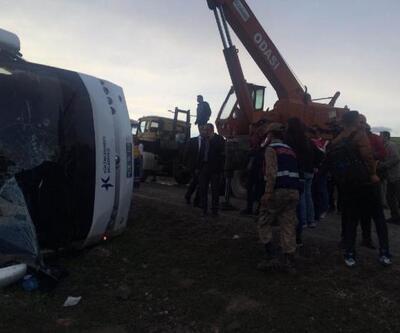 Tokat'ta cenazeden dönenleri taşıyan otobüs devrildi: 7 ölü