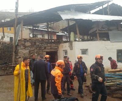 Erzurum'da ahır inşaatında çökme: 2 ölü, 6 yaralı