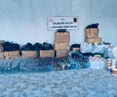 Balıkesir'de sahte içki operasyonu