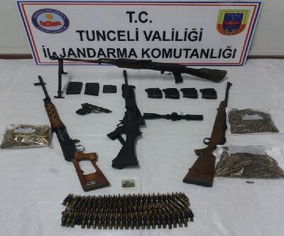 Tunceli'de teröristlerin mağarası kullanılamaz hale getirildi