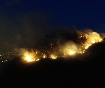 Giresun'da müdahale edilemeyen orman yangını yayılıyor