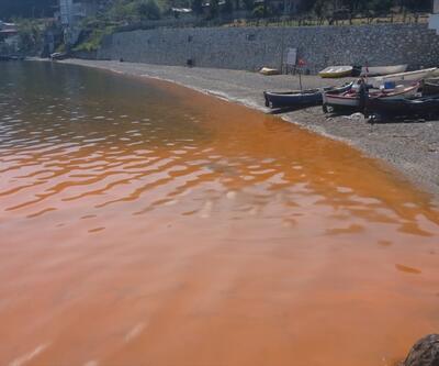 Denizin rengi turuncuya döndü