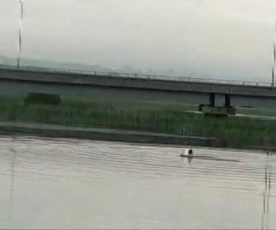 Büyükçekmece Gölü'nde kaybolan kişiyi arama çalışması başlatıldı