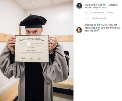 Justin Timberlake mezun oldu