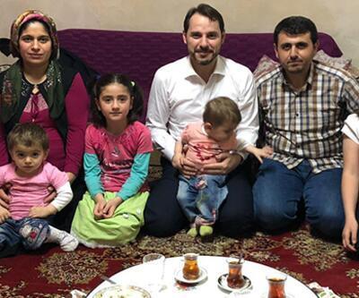 Bakan Albayrak iftarda Kılıç ailesine misafir oldu