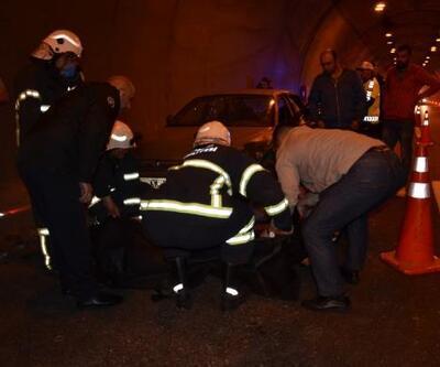 Tünelde kamyonun çarptığı sürücü öldü