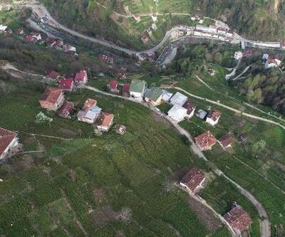 Karadeniz'in apartman köyünden baş döndürücü manzara