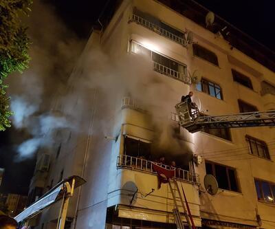 5 katlı apartmanda yangın: 3'ü çocuk 14 kişi dumandan etkilendi