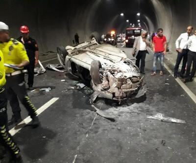 TIR'a çarpan otomobilin sürücüsü yaralandı