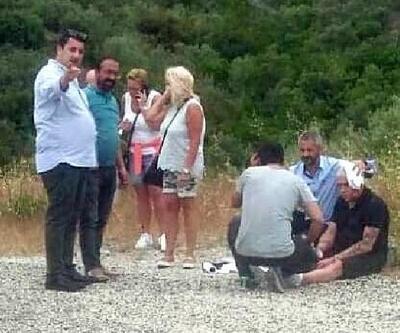 TIR'ın savrulan dorsesi taksiye çarptı: 2'si turist 3 yaralı