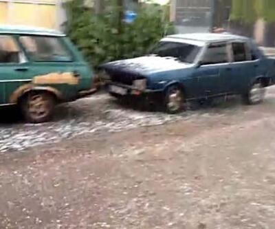 Beypazarı'nda dolu yağışı etkili oldu