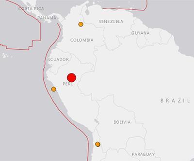 Son dakika... Peru'da 8 büyüklüğünde deprem