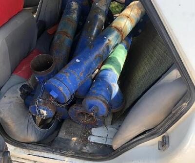 DSİ'ye ait malzemeleri çalan şüpheli tutuklandı