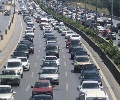 Son dakika: İstanbul'da bayram yoğunluğu! Trafik felç