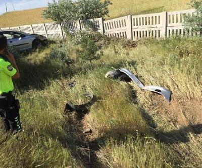 Kırıkkale'de şarampole devrilen otomobildeki 5 kişi yaralandı