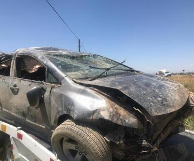 Otomobil, tarlaya devrildi: 3 ölü, 4 yaralı