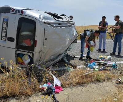 Takla atan hafif ticari araçtaki Ezgi öldü, 6 kişi yaralandı