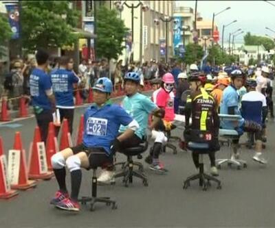 Ofis sandalyeleriyle yarış