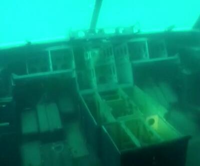 Batık uçağa ilk dalış