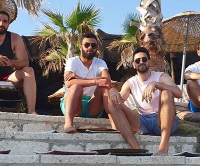 Dev adamlar plajda