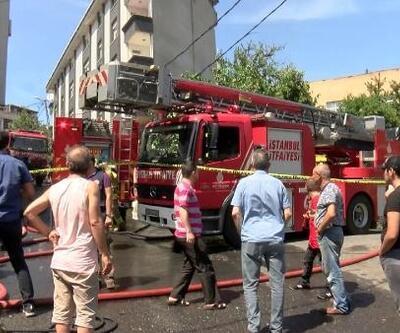 Gaziosmanpaşa'da çatı yangını; 200 güvercin öldü
