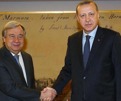 Cumhurbaşkanı Erdoğan Guterres'le görüştü