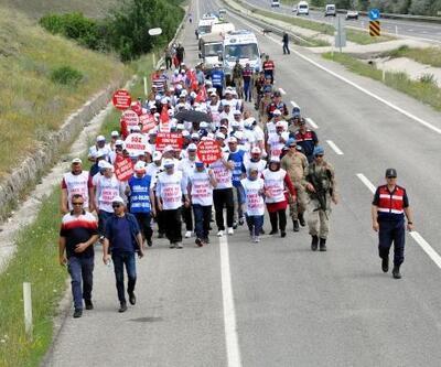 Bolu'dan Ankara'ya yürüyen işçiler, Kahramankazan'a ulaştı