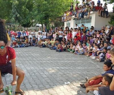 Hilvan'da, çocuklara yaz tatili eğlencesi