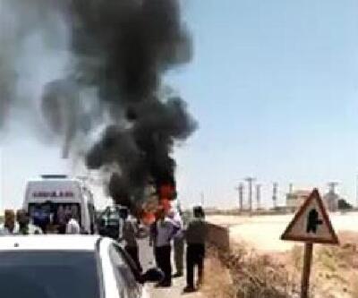 Viranşehir'de otomobiller çarpıştı: 9 yaralı