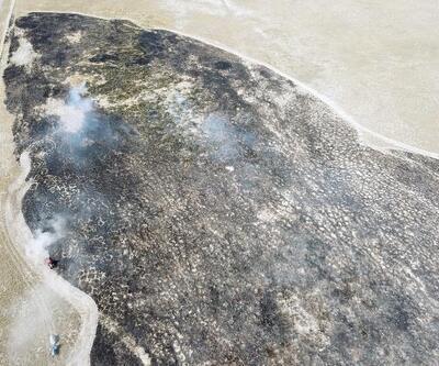 Karapınar'da Çölleşme ve ErozyonAraştırma Merkezi Sahası'nda yangın