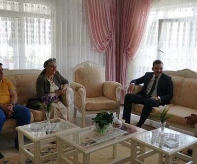 Kaymakam Türkmenoğlu'dan, şehit ve gazi ailelerine ziyaret