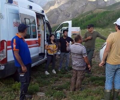 Sülbüs Dağı'nda mantar toplarken düşüp, yaralandı