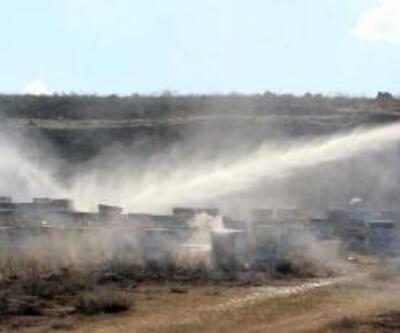 Tomarza'da 500 arı kovanı yandı, yüzbinlerce arı telef oldu