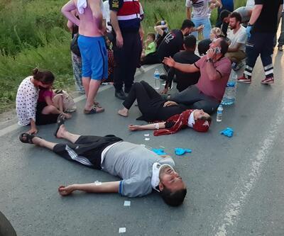 Piknik dönüşü kaza: Çok sayıda yaralı var