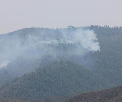 Türkmendağı'ndan dumanlar yükseliyor