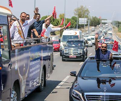 Kırkpınar Başpehlivanı Ali Gürbüz'e coşkulu karşılama