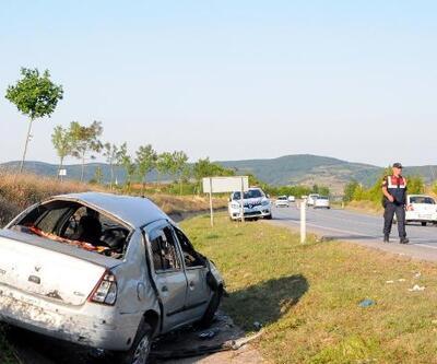 Kandıra yolunda kaza: 2 yaralı
