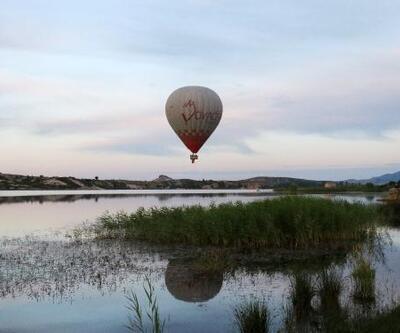 Frig Vadisi'nde ilk sıcak hava balonu havalandı