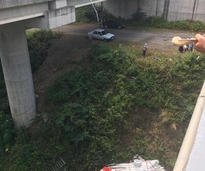 Viyadükten düşen TIR'dan atlayan sürücü yaralandı