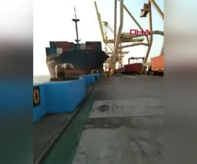 Gemi limana çarptı