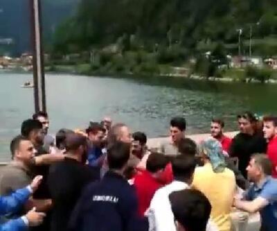 Uzungöl'de Iraklı grup ile gerginlik
