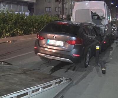 Gaziosmanpaşa'da cip minibüse çarptı