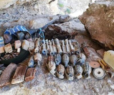 Mağaralarda PKK bombaları ve mühimmat ele geçirildi